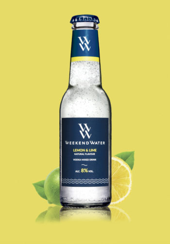 Weekend Water Lemon Lime med frugt - Gul BG